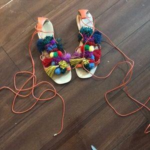 Shoes - Pom Pom strappy sandals